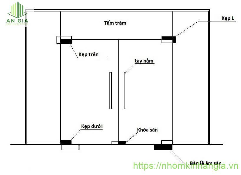 Kích thước của cửa kính cường lực theo phong thủy