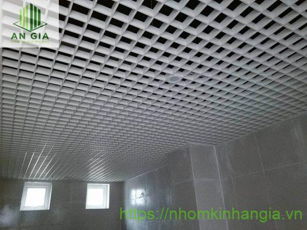 Trần nhôm caro WC