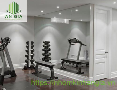 Mẫu 3: Gương có màu sắc tối phù hợp với những phòng tập có nguồn sáng thấp như phòng tập gym, tập nhảy,...