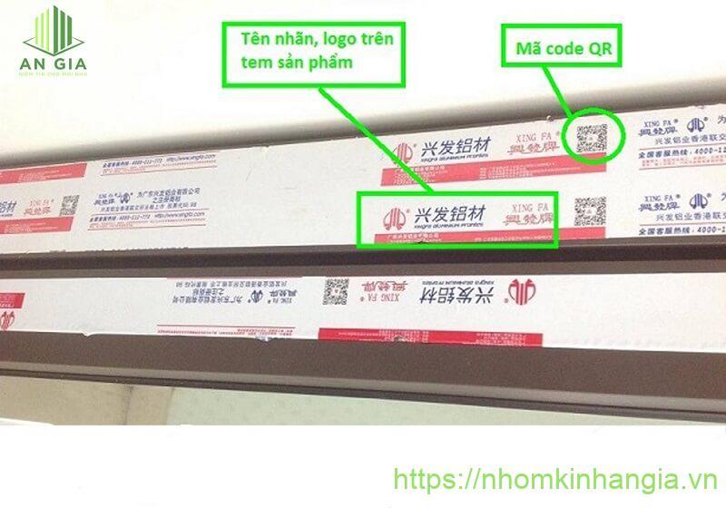 Phân biệt nhôm Xingfa qua mã code