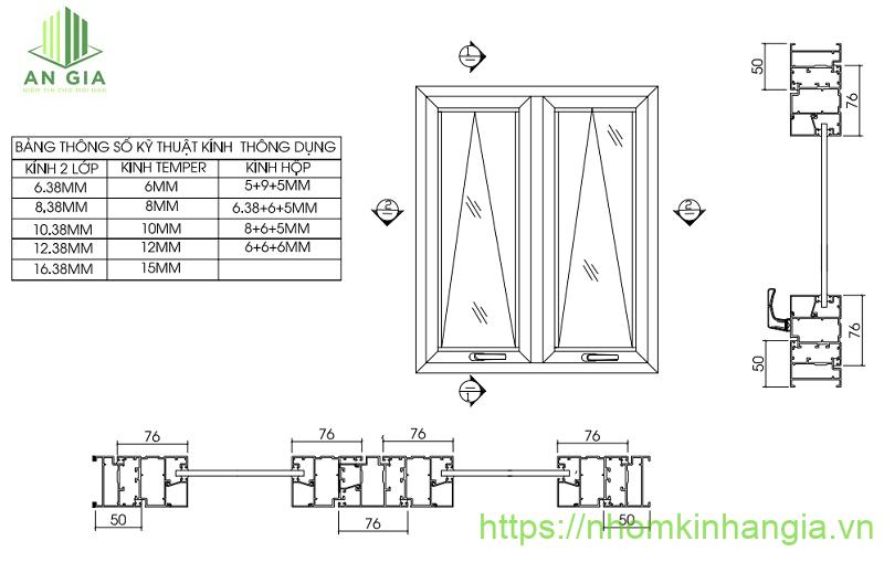 Thông số kỹ thuật cửa nhôm Xingfa