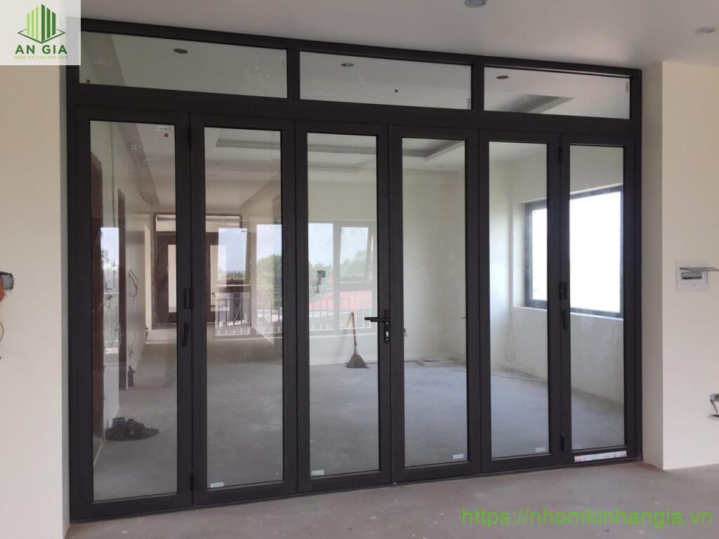 Hệ cửa đi mở xếp gấp 6 cánh